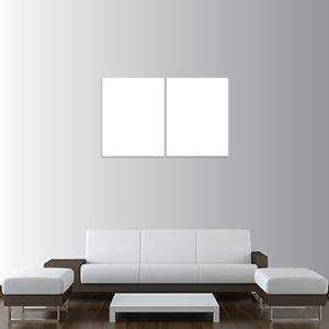 Canvas 2 Pannelli Telaio - Mockup