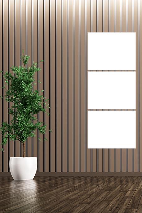 Canvas 3 Vertical Panels Frame - Image