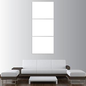 Canvas 3 Pannelli Verticali Telaio - Mockup
