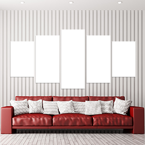 Canvas 5 Pannelli Medium Telaio - Mockup
