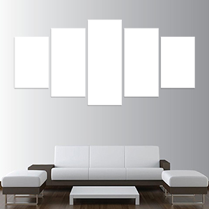 Canvas 5 Stampe Medium - Mockup