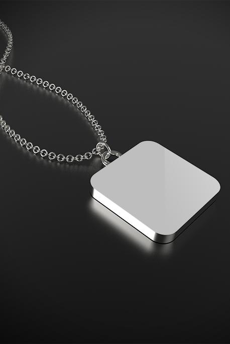 Collana con Ciondolo Placcato Argento - Image