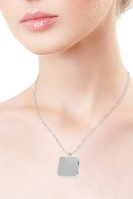 Necklace with Silver Plated Pendant - Image