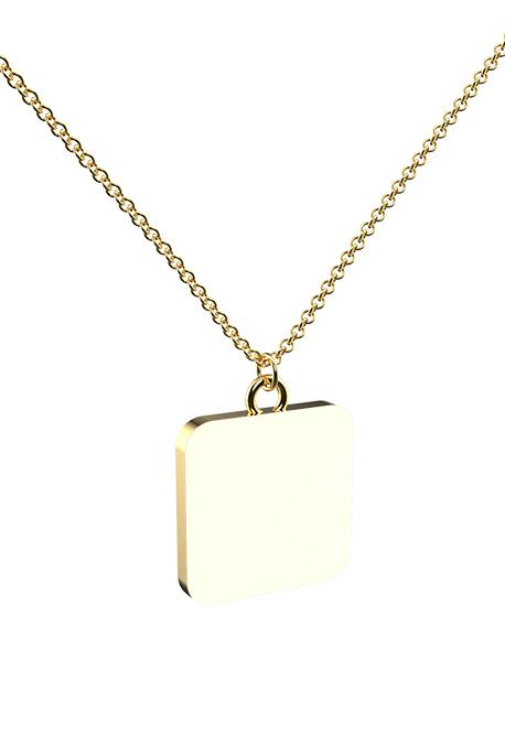 Collana con Ciondolo Placcato Oro Full - Image