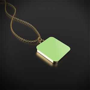 Collana con Ciondolo Placcato Oro Full - Mockup