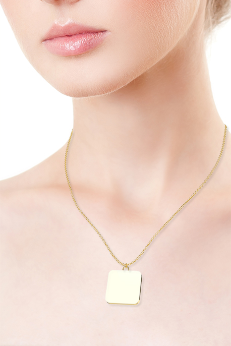 Necklace with Gold Plated Pendant - Image
